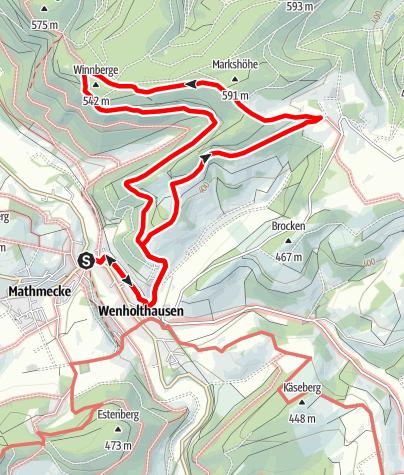 Karte / Rundweg um Wenholthausen (W5)