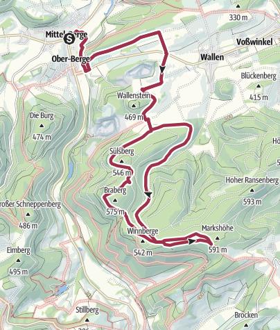 Map / Rundweg um Berge (B2)