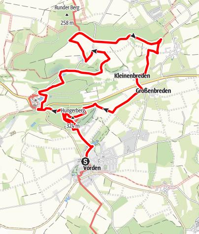 Karte / Panoramaweg Hungerberg-Oldenburg (A3)