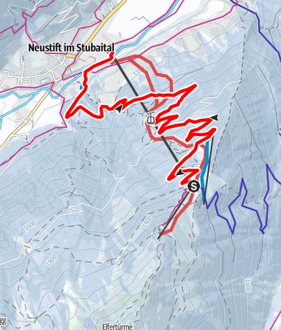 Карта / Rodelbahn Elfer