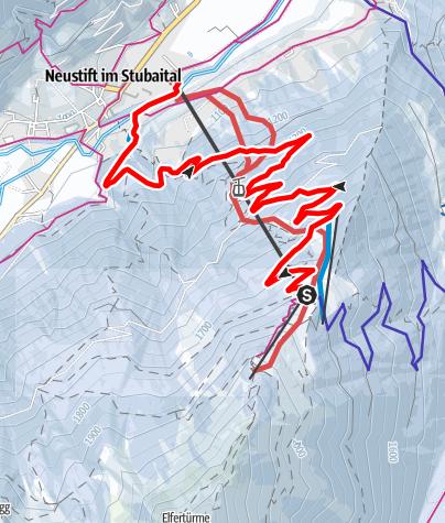 Mapa / Rodelbahn Elfer