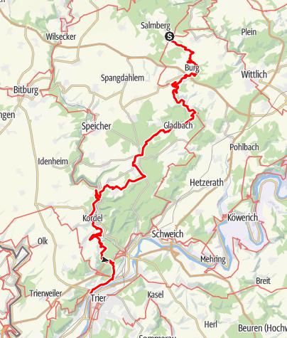 Karte / Eifelsteig, Etappe 13 - 15