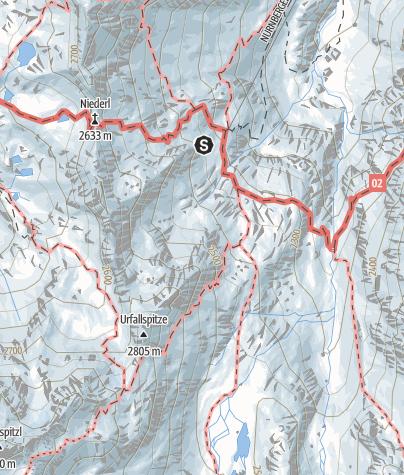 Mapa / Klettersteig Nürnberger Hütte