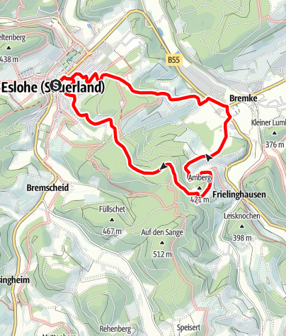 Karte / Rundweg um Eslohe (E4)