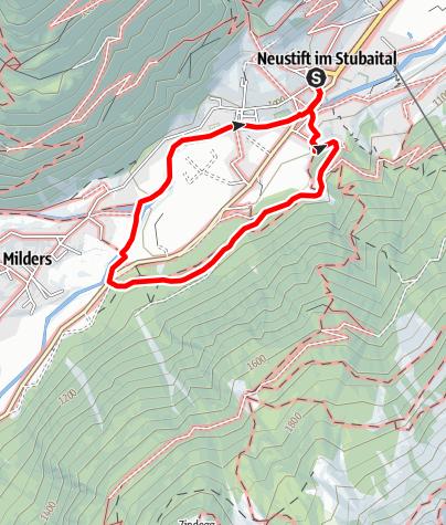 Karte / Franz-Senn-Rundweg - Neustift