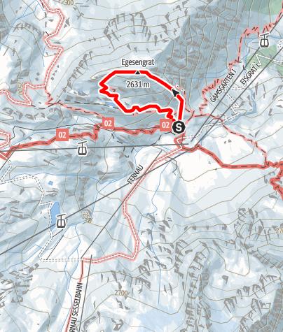 Mapa / Fernau Klettersteig