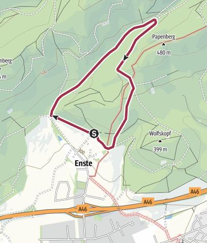 Karte / Rundweg um Enste (A7)