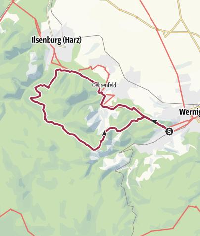 Karte / Natur-Kultur-Pur-Weg von Wernigerode nach Ilsenburg