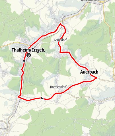 Karte / Radrunde um Thalheim im Erzgebirge