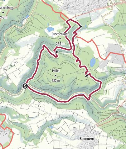 Kaart / Waldschluchtenweg