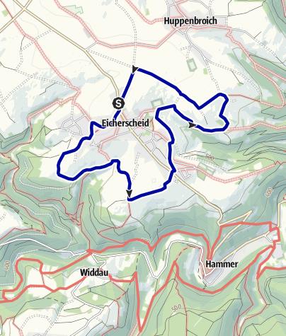 Karte / Wandern und Radeln um Eicherscheid