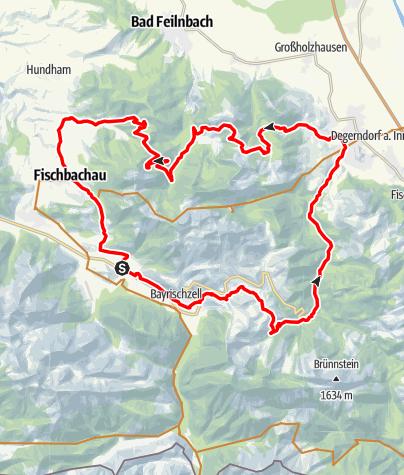 """Karte / Rund um den Wendelstein  (Tour Nr. 9 aus dem """"RadlTraum Süd"""")"""