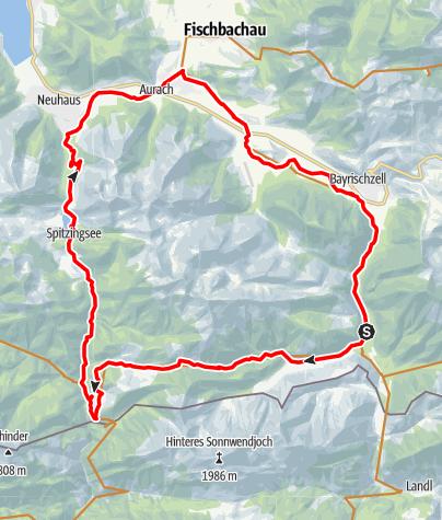 """Karte / Rund um die Rotwand  (Tour Nr. 12 aus dem """"RadlTraum Süd"""")"""