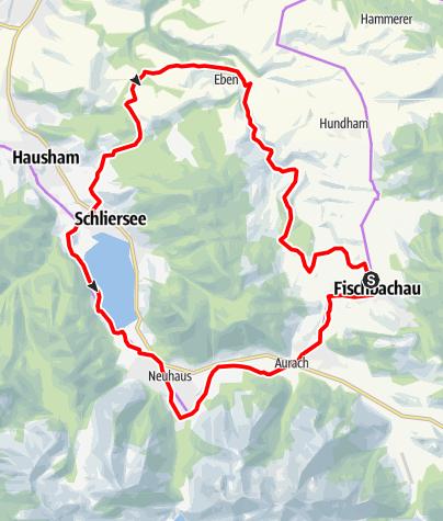 """Karte / Rund um den Schliersberg (Tour Nr. 17 aus dem RadlTraum Süd"""")"""