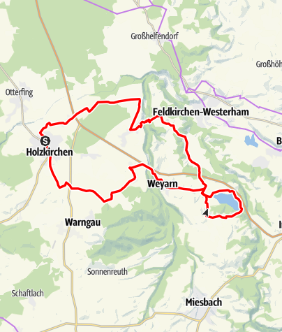 Karte / Zum Seehamer See