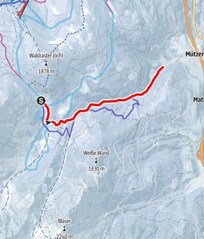 Karte / Rodelbahn Maria Waldrast