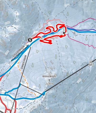 Karte / Höhenloipe Schlicker Alm (Nr. 11)