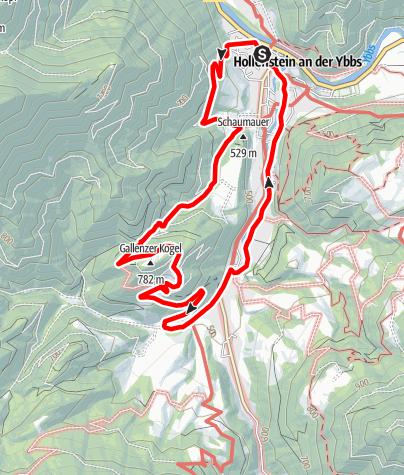 Karte / Hollensteiner Panoramaweg