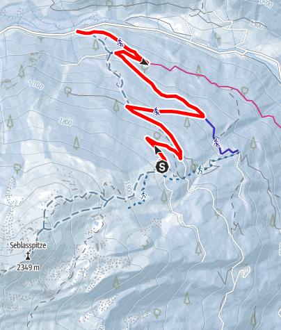 Kaart / Rodelbahn  Brandstattalm