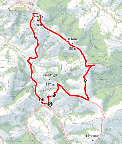 Térkép / Wanderweg Voralpenblick