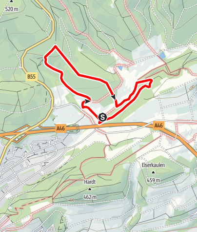 Karte / Rundweg um Eversberg (A2)