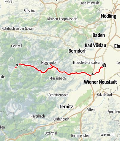 Térkép / Piestingtal-kerékpárút