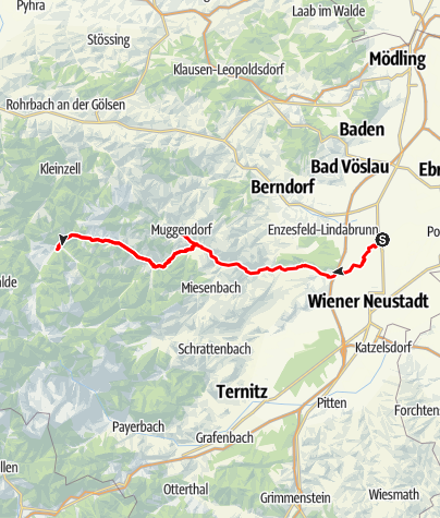 Karte / Der Piestingtal-Radweg