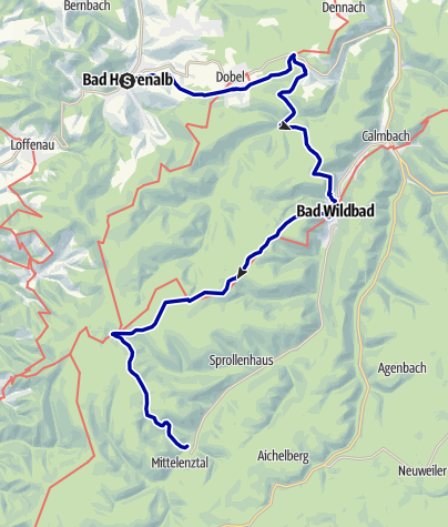 Karte / Calw - Moor- und Auerhahntour