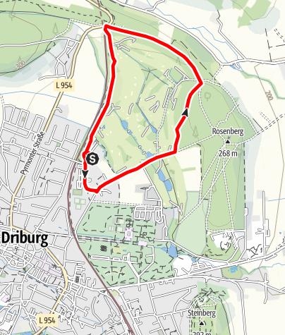 Karte / Nordic Walking auf dem Gesundheits- und Fitness-Parcours Bad Driburg, Tour 2