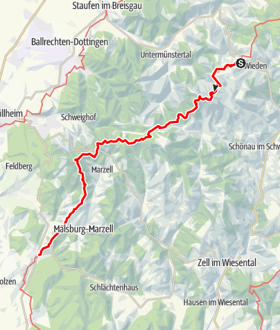 Map / Westweg: stage 11 west (Wiedener Eck - Kandern)