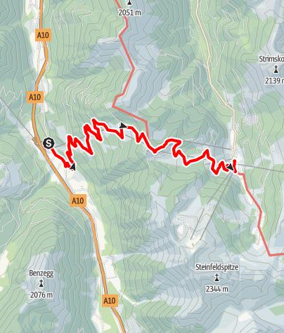 Karte / Flachauwinkel-Wandertour