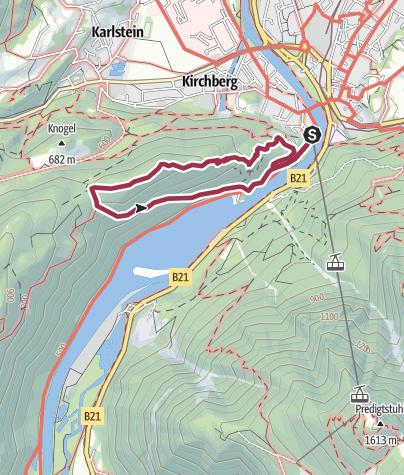 Karte / Kiblinger Höhenweg