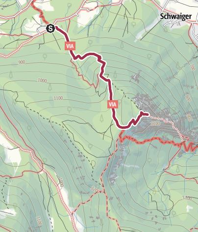 Karte / Wanderung auf den Grünstein
