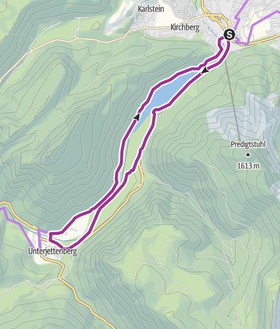 Karte / Saalachsee-Radrunde