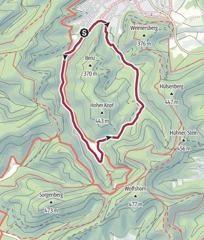 Karte / Hauenstein - Paddelweiher - Queichquelle