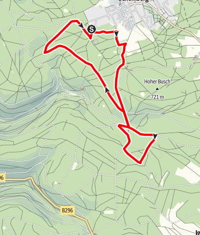 Karte / Nordic Walking 03 Schömberg