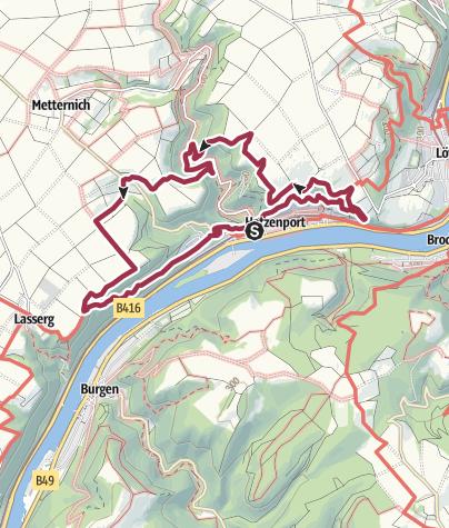 Kaart / Hatzenporter Laysteig