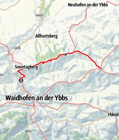 Karte / Waidhofen - Sonntagberg - St. Leonhard am Walde
