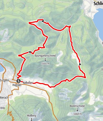 """Karte / Alpbach über Gindel Alm  (Tour Nr. 38 aus dem """"RadlTraum Süd"""")"""