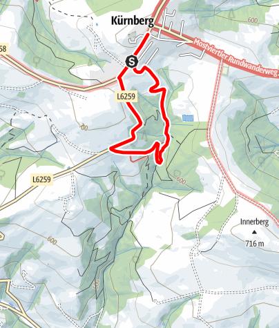 Térkép / Kneipp-und Vitalweg Kürnberg