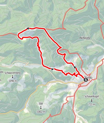 Map / Türnitzer Alpen Rundwanderung Eisenstein
