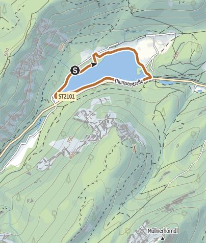 Karte / Thumsee - Nordic-Walking-Runde