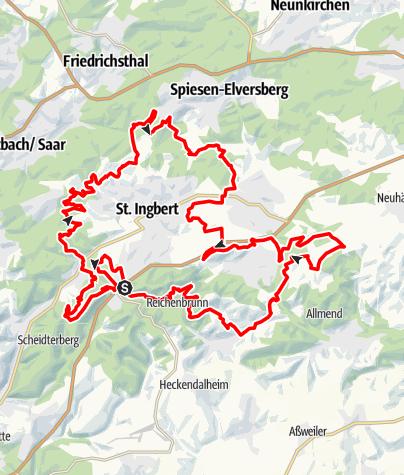 Karte / Die Pur - Rund um St. Ingbert