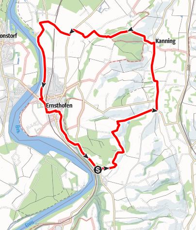 Map / Großer Ernsthofner Rundwanderweg