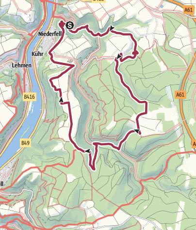 Karte / Traumpfad Schwalberstieg