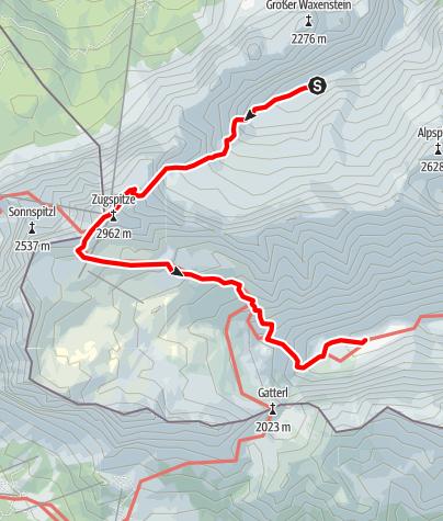Mapa / Zugspitztour TAG 2