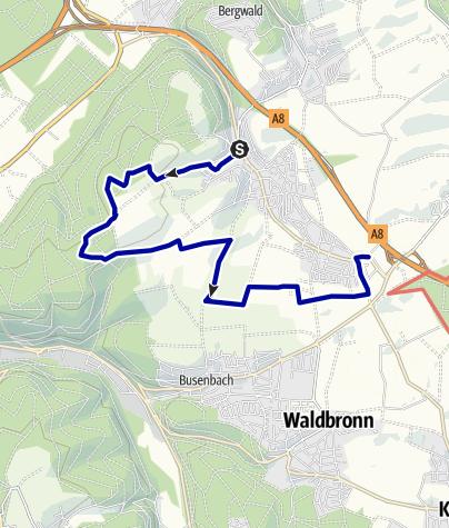 Karte / Bergdörfer Grenzweg Etappe 2