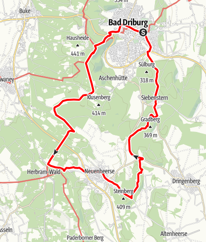 Karte / Rundwanderung Bad Driburg - Neuenheerse mit Eggeweg