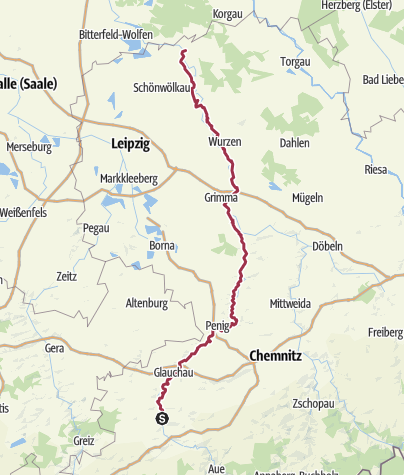 Map / Mulde Valley Hiking Trail -  A River Running through Saxony's History