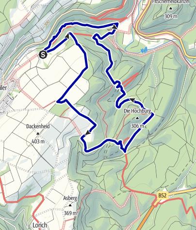 Karte / Premiumweg Römerpfad
